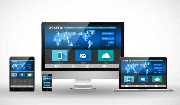 Responzivní webové stránky s layoutem optimalizovaným pro tablety, smartphony a notebooky