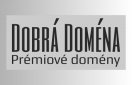 Logotyp Dobrá Doména s textem prémiové domény